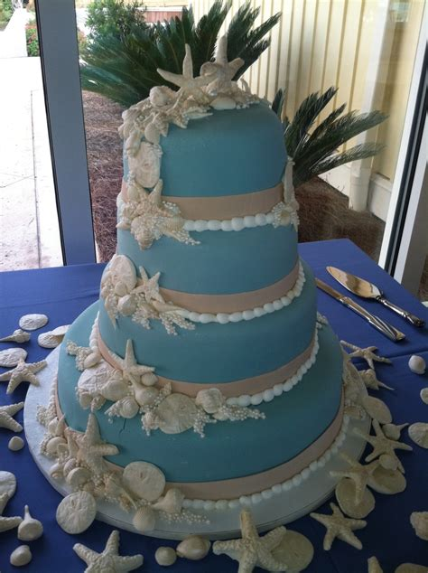 wedgewood blue seashell wedding cake cakecentral