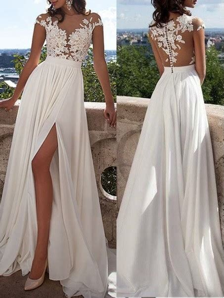 Latest Chiffon And Lace Long Prom Dresses Evening Party