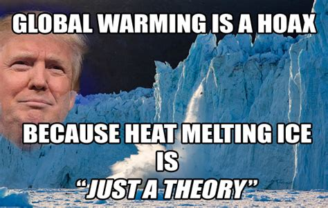 Global Warming Meme - climate change heat melting ice is just a theory