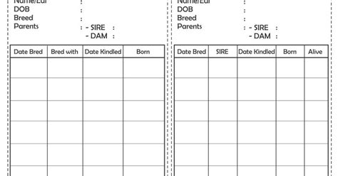 monitoring cage card template the rabbit times free rabbit cage cards
