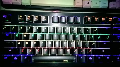 Ducky One Tkl Mechanical Keyboard Non Backlight Cherry Mx hao pbt abs new color arrived