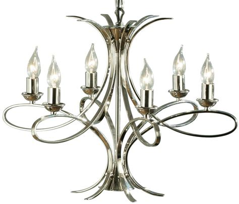 polished nickel chandelier penn contemporary 6 light polished nickel chandelier 63572