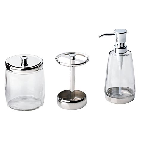 Delta Bathroom Accessories Delta 3 Bathroom Countertop Accessory Kit With Soap Toothbrush Holder And Canister