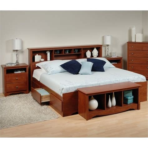 king bed storage bench features