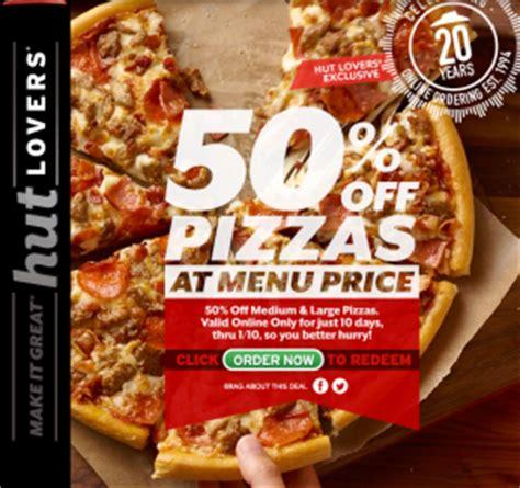 pizza hut printable vouchers uk voucher code get 50 off all pizzas at pizza hut