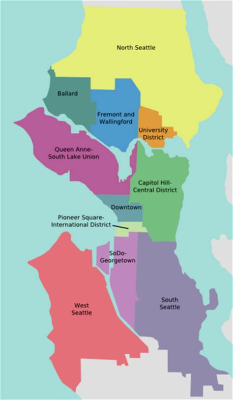 seattle map districts seattle limo tours limo to seattle downtown area of limo