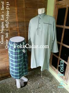 Sirwal List 85 gamis eksklusif list niagara murah syarif collection