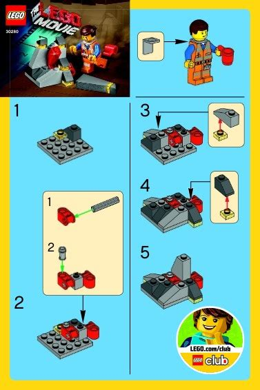 tutorial lego pdf the lego movie lego the piece of resistance instructions