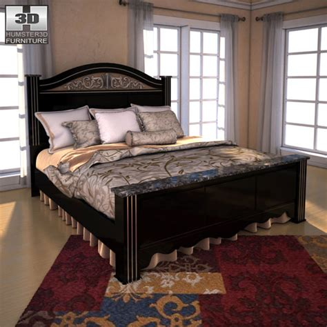 constellation bedding ashley constellations king poster bed 3d model game ready max obj 3ds fbx c4d