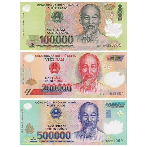currency vnd one million dong vnd
