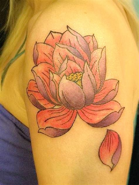flower petal tattoos 80 most beautiful lotus flower design ideas