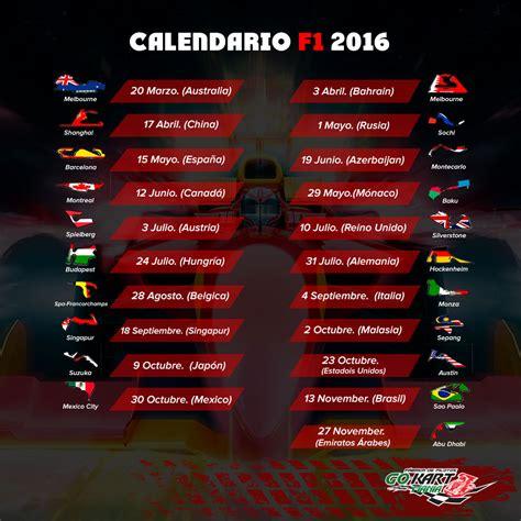 Calendario F 1 Calendario F1 2016 Gokartman 237 A