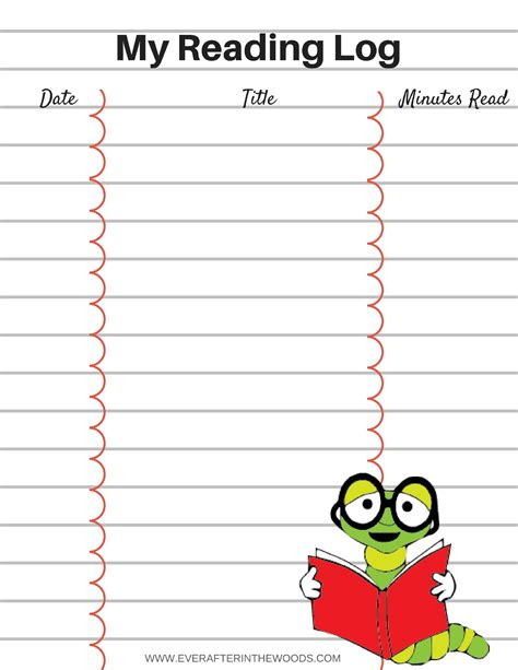 printable children s reading log printable reading log for your children ever after in