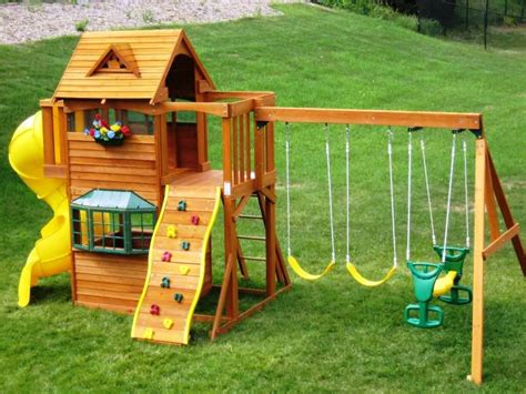 swing sets for small backyards attractive playground sets for backyards with backyard