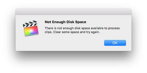 final cut pro not enough disk space fcp co forum topic proxies and disk space 1 1