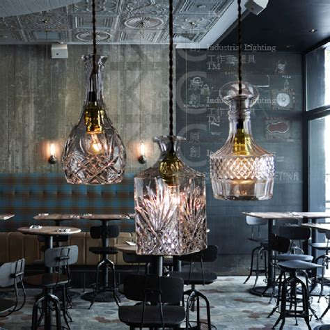 design house barcelona lighting aliexpress com buy vintage glass bottle pendant light restaurant bar hanging l european