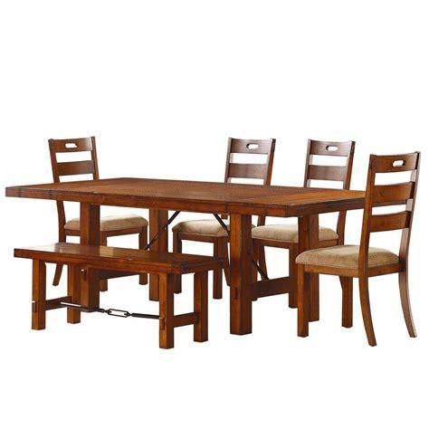 Dining Room Set Home Depot Homesullivan Honea 6 Vintage Oak Dining Set 402515