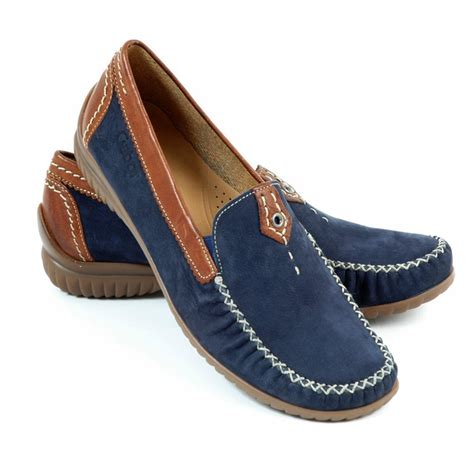 womens navy loafers gabor shoes california womens wide fitting loafer in