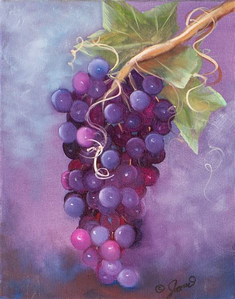 acrylic painting grapes grapes by joni mcpherson