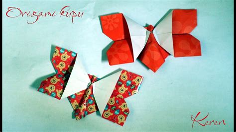 tutorial menggambar kupu kupu tutorial origami kupu kupu cantik mudah dan simple youtube