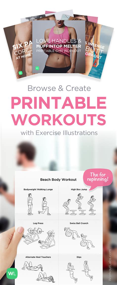 free printable pdf workouts for workoutlabs
