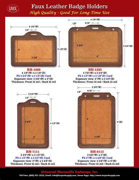 Casing Id Card Tempat Id Card Card Holder leather name badge holders and leather id badge holders