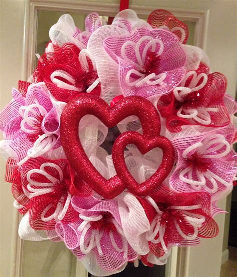 valentines day wreath s day s wreath poly mesh wreath