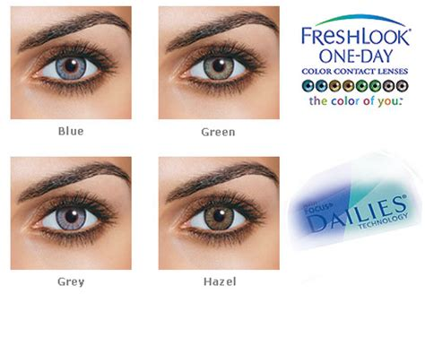 fresh look contacts colors freshlook 1 day colorblends 10 pack contacts cow