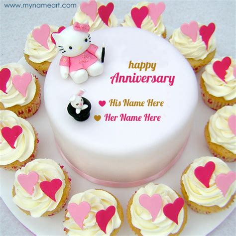 Wedding Anniversary Maker by Anniversary Blessing Wishes With Cake Picture Maker