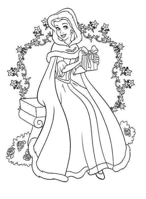 coloring pages christmas princess free coloring pages of disney princess christmas