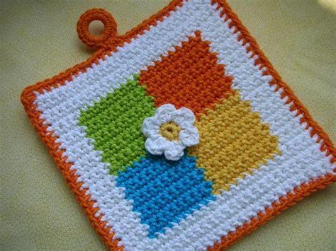 crochet potholder pattern whiskers wool four square crochet potholder pattern free