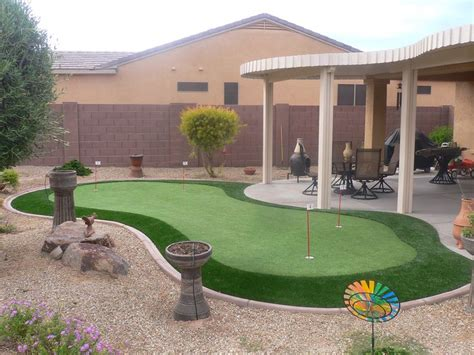 phoenix backyard landscaping mix and match your flagsticks on your putting green to