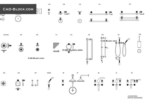 Kitchen Faucet by Bathroom Accessories Cad Blocks Free Download