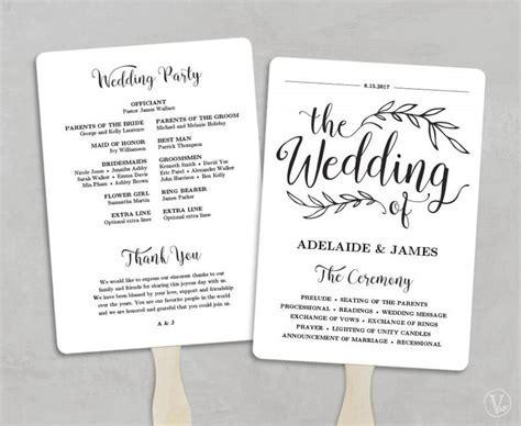 Printable Wedding Program Template, Fan Wedding Program