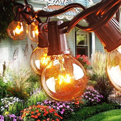 Decorative String Lights For Patio Opoway Patio Lights Globe String Light G40 Decorative Indoor Outdoor Lighting For Garden
