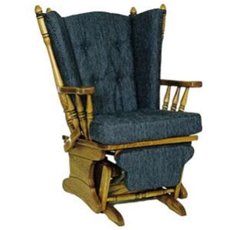 Amish Rocking Chair Cushions by Amish Heritage Four Post Glider Rocking Chair With