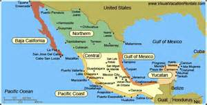 map of pacific mexico map travel holidaymapq