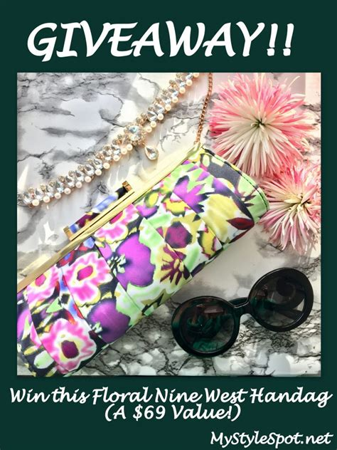 Giveaway Rafflecopter - giveaway win a nine west floral handbag clutch mystylespot