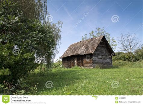 Cabin In The Woods Free by Cabin In The Woods Royalty Free Stock Photography