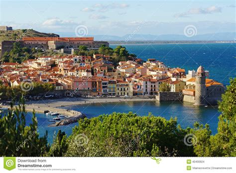 Coastal Beach House Plans by Collioure Coastal Village In France Stock Photo Image Of