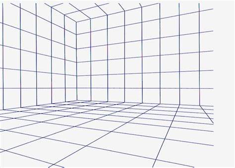 room design template grid perspective grids