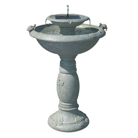 smart solar country gardens weathered stone two tier solar