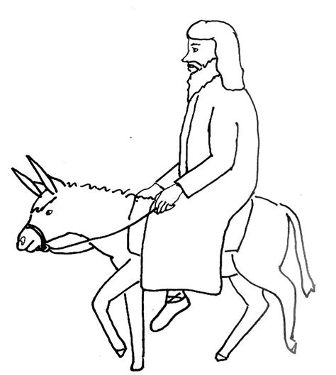 bible story coloring page for jesus triumphant entry into
