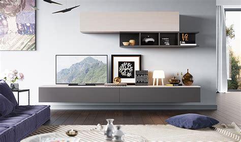 Simple Wall Mural meubles muraux pour salon tv design laqu gris et bois clair