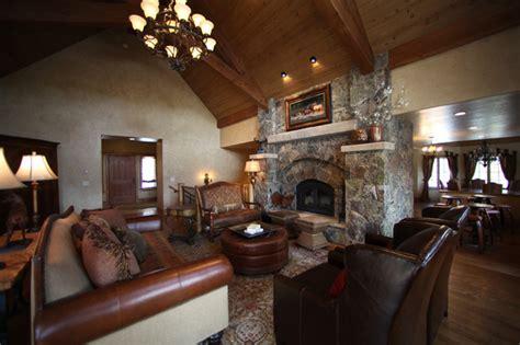 mountain homes interiors breckenridge apres ski chalet rustic living room