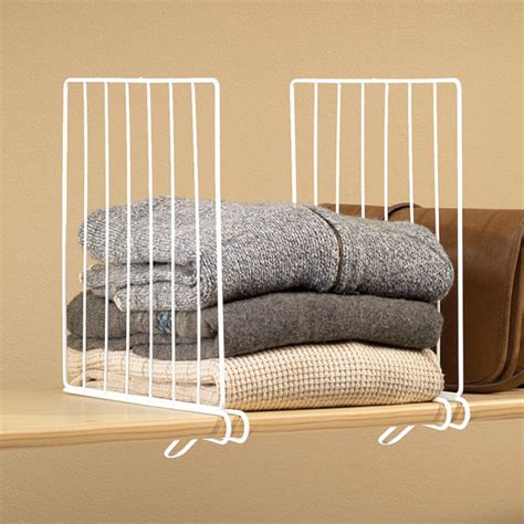 Shelf Dividers For Closets by Kimball White Wire Closet Shelf Dividers Set Of 4
