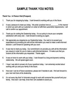 7 sle thank you notes for meeting 7 exles in word