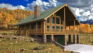 Floor Plans Walkout Basement log cabin floor plans wyoming yellowstone log homes