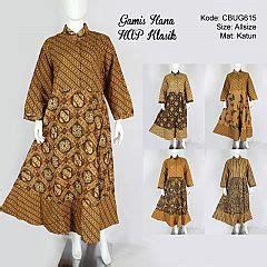 Tunik Batik Kawung Tumpal jual gamis batik murah model gamis batik terbaru