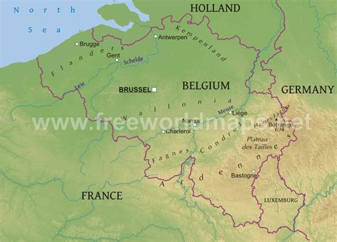 belgium rivers map map of belgium belgium rivers map showing the major rivers